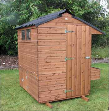 small commercial, large domestic flock laying house