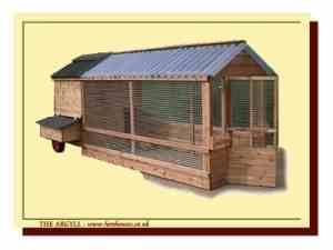 Argyll aviary hen house and chicken run