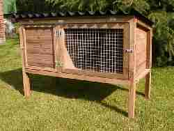 traditional single rabbit hutch