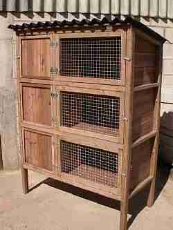 three storey rabbit breeding hutches