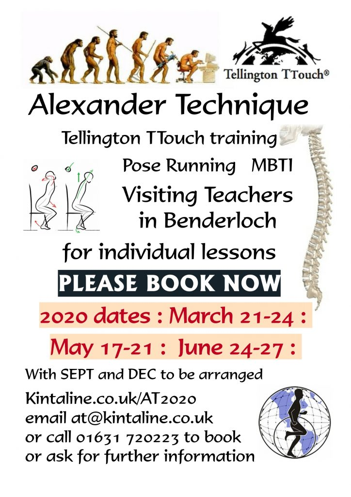 alexander technique teachers visits 2020 poster
